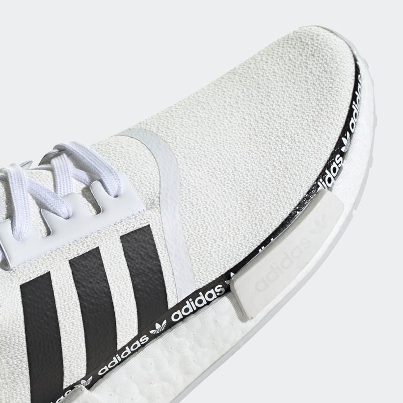 """7/16発売!ロゴをちょっと効かせた adidas Originals NMD_R1 """"White/Black"""" (アディダス オリジナルス エヌ エム ディー """"ホワイト/ブラック"""") [FV8727,8729]"""
