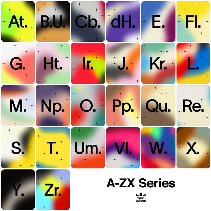 adidas OriginalsからAからZの26文字のアルファベットにちなんだZXを連続リリースする「A-ZX」シリーズが8/7から順次発売 (アディダス オリジナルス)