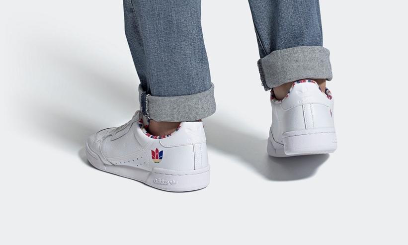 """9/20発売!カラフルな3Dトレフォイルで一新した adidas Originals CONTINENTAL 80 """"White/Scarlet"""" (アディダス オリジナルス コンチネンタル 80 """"ホワイト/スカーレット"""") [FY2365]"""
