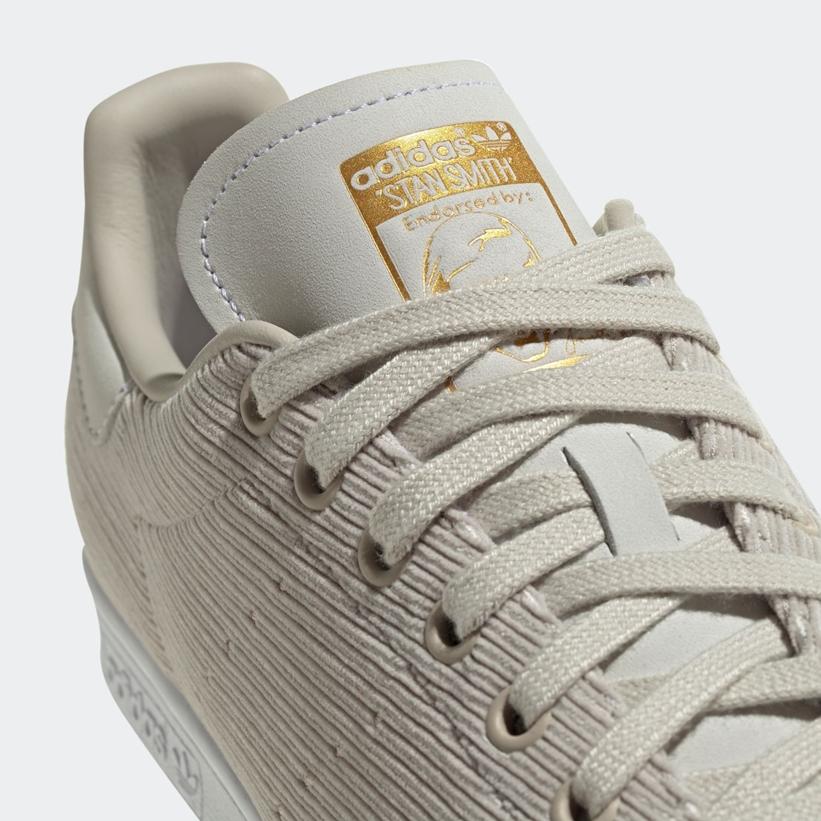 """コーデュロイバージョンのアディダス オリジナルス スタンスミス """"ブラウン/ウェアホワイト/ゴールド"""" (adidas Originals STAN SMITH Corduroy """"Clear Brown/White/Gold Metallic"""") [FU9615]"""