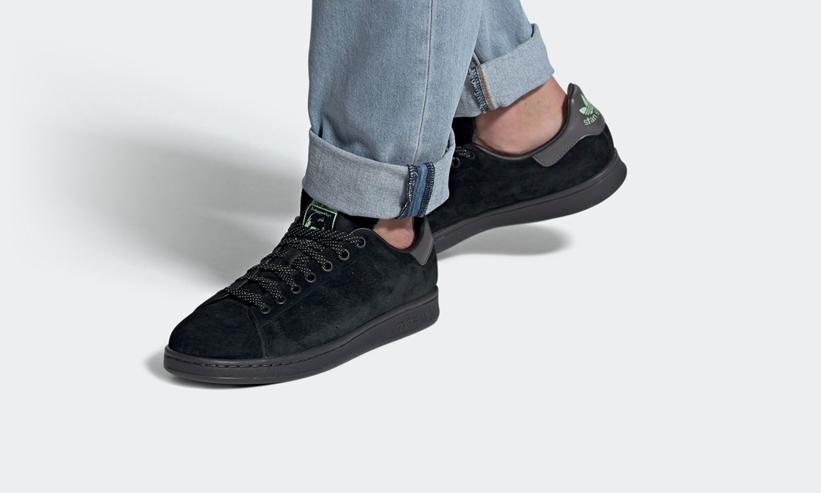 """アディダス オリジナルス スタンスミス """"コアブラック/グレーシックス/ブラッシュグリーン"""" (adidas Originals STAN SMITH """"Core Black/Grey Six/Brush Green"""") [FW2640]"""