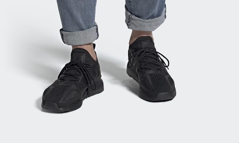 """10/1発売!adidas Originals ZX 2K BOOST """"Triple Black"""" (アディダス ゼットエックス 2K ブースト """"トリプルブラック"""") [FV9993]"""