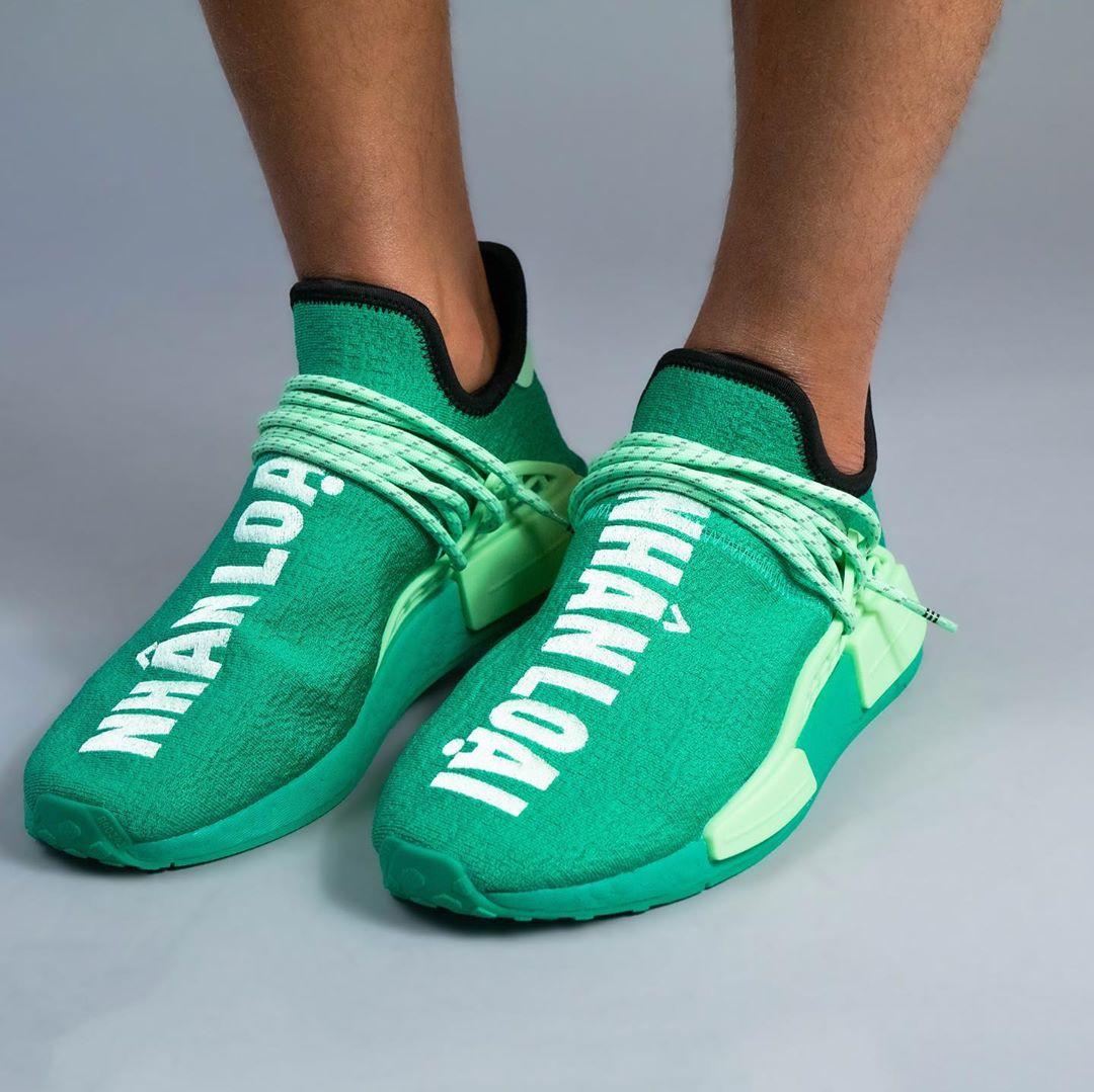 "Pharrell Williams x adidas Originals NMD TRAIL HU ""Green/NHANLOAI"" (ファレル・ウィリアムス アディダス オリジナルス エヌエムディー ""グリーン/ブラック"") [GY0089]"