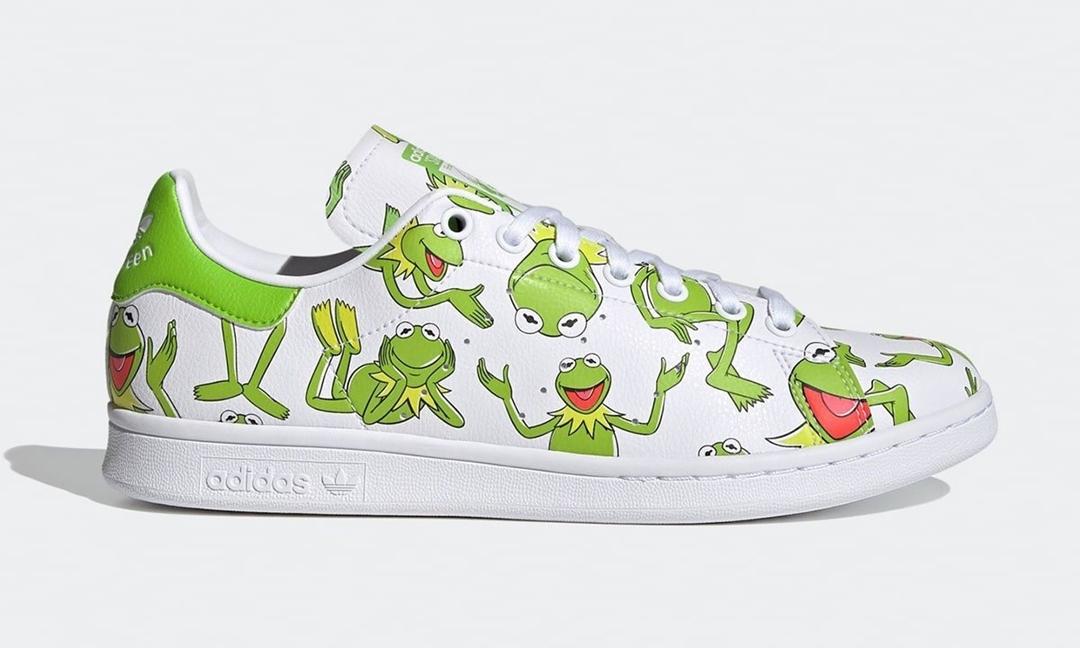 グリーンカラーのキャラクターを採用した「キャラクターパック」からKermit the Frog x adidas Originals STAN SMITH (カーミット ザ フロッグ アディダス オリジナルス スタンスミス) [FZ2707]が登場!