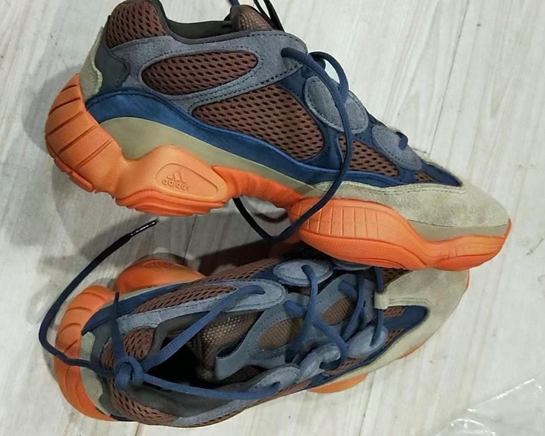 """【リーク】アディダス オリジナルス イージー 500 """"ネイビー/オレンジ"""" (adidas Originals YEEZY 500 """"Navy/Orange"""")"""