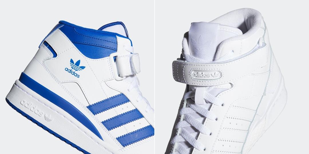 """adidas Originals FORUM MID """"White/Blue"""" (アディダス オリジナルス フォーラム ミッド """"ホワイト/ブルー"""") [FY4975,FY4976]"""