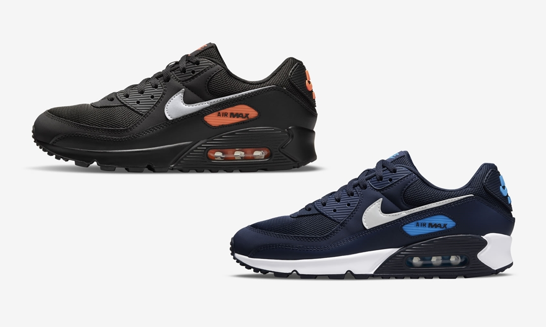 "ナイキ cheap nike air force ones low on feet youtube ""ブラック/オレンジ"" ""ネイビー/ホワイト"" (NIKE AIR MAX 90 ""Black/Orange"" ""Navy/White"") [DJ6881-001,400]"