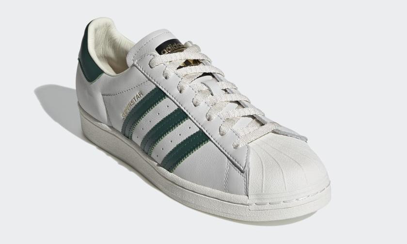 "adidas Originals SUPERSTAR ""Off White/Collegiate Green"" (アディダス オリジナルス スーパースター ""オフホワイト/カレッジグリーン"") [H68186]"