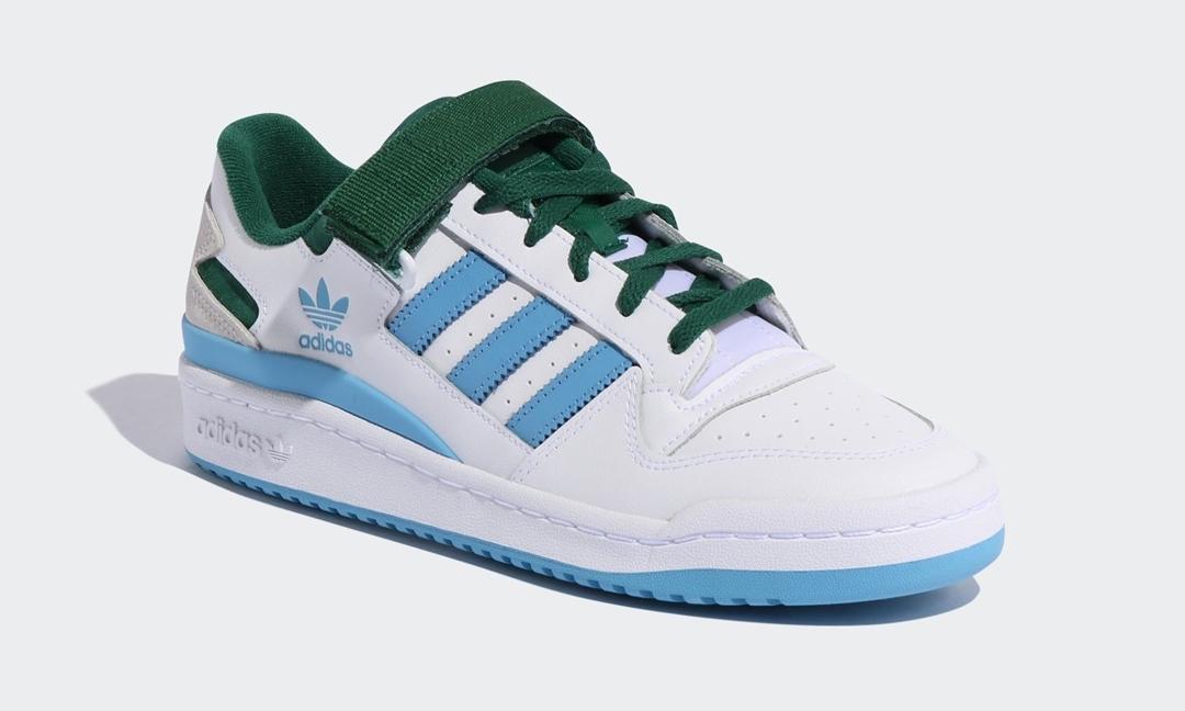 """【国内 3/1 発売予定】adidas Originals FORUM LOW CREST """"White/Team Dark Green/Light Blue"""" (アディダス オリジナルス フォーラム ロー クレスト """"ホワイト/チームダークグリーン/ライトブルー"""") [FY7756]"""