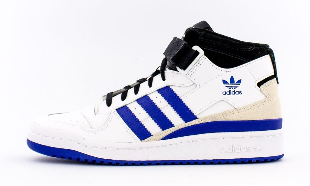 """adidas Originals FORUM MID """"White/Black/Royal Blue"""" (アディダス オリジナルス フォーラム ミッド """"ホワイト/ブラック/ロイヤルブルー"""") [FY6796]"""