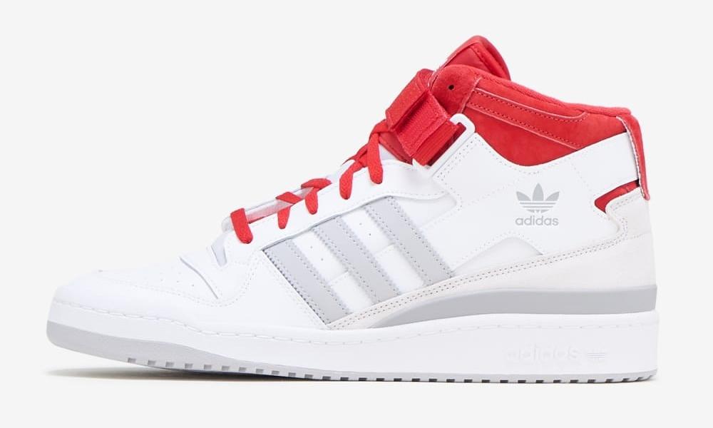 """adidas Originals FORUM MID """"White/Red/Gray"""" (アディダス オリジナルス フォーラム ミッド """"ホワイト/レッド/グレー"""") [FY6819]"""