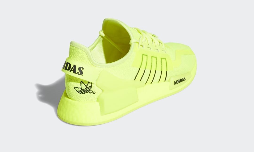 """adidas Originals NMD_R1 V2 """"Solar Yellow/Black/White"""" (アディダス オリジナルス エヌ エム ディー ブイツー """"ソーラーイエロー/ブラック/ホワイト"""") [H02654]"""