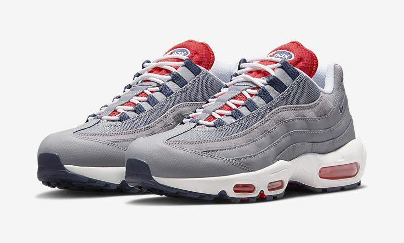 """ナイキ エア マックス 95 OG """"グレー/レッド"""" (NIKE adidas suede superstar bluish shoes sandals boots OG """"Grey/Red"""") [DB0250-001]"""