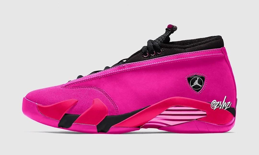 """2021年 ホリデー発売予定!ナイキ ウィメンズ エア ジョーダン 14 """"ショッキングピンク"""" (NIKE WMNS AIR JORDAN 14 """"Shocking Pink"""")"""