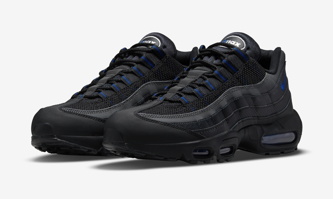 "ナイキ エア マックス 95 ""ブラック/ブルー/シルバー"" (NIKE nike shox good for feet and inches to miles hour ""Black/Blue/Silver"") [DM9104-001]"