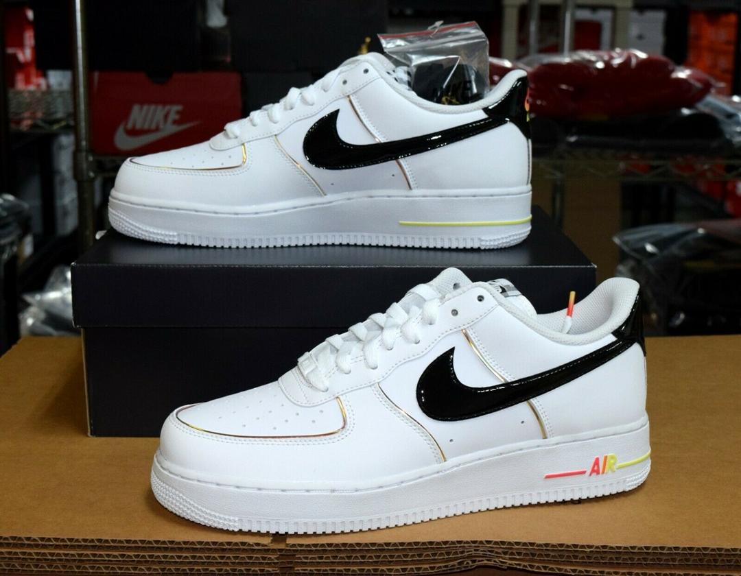 """ナイキ エア フォース 1 07 ロー """"ホワイト/ブラック/ブライトクリムゾン"""" (NIKE adidas arkyn on feet and legs toes shoes sale 07 LOW """"White/Black/Bright Crimson"""") [DJ5523-100]"""