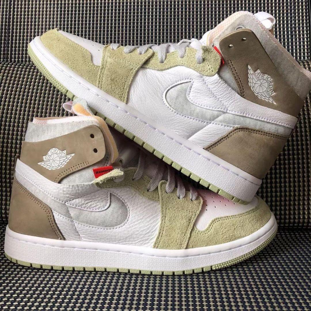 """ナイキ エア ジョーダン 1 ハイ ズーム """"ホワイト/ブラウン/グリーン"""" (NIKE AIR JORDAN 1 HIGH ZOOM """"White/Brown/Green"""")"""