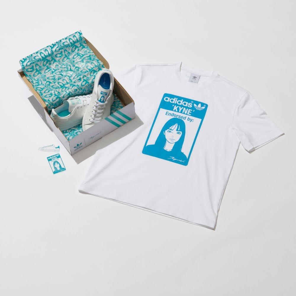 """6/18 発売!adidas Originals by KYNE STAN SMITH """"White"""" (アディダス オリジナルス バイ キネ スタンスミス """"ホワイト"""") [GX7690]"""