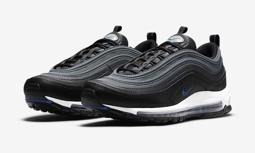 """ナイキ エア マックス 97 """"ブラック/ホワイト/ブルー"""" (NIKE nike zoom clear out sneakers for sale on amazon """"Black/White/Blue"""") [DM9105-001]"""