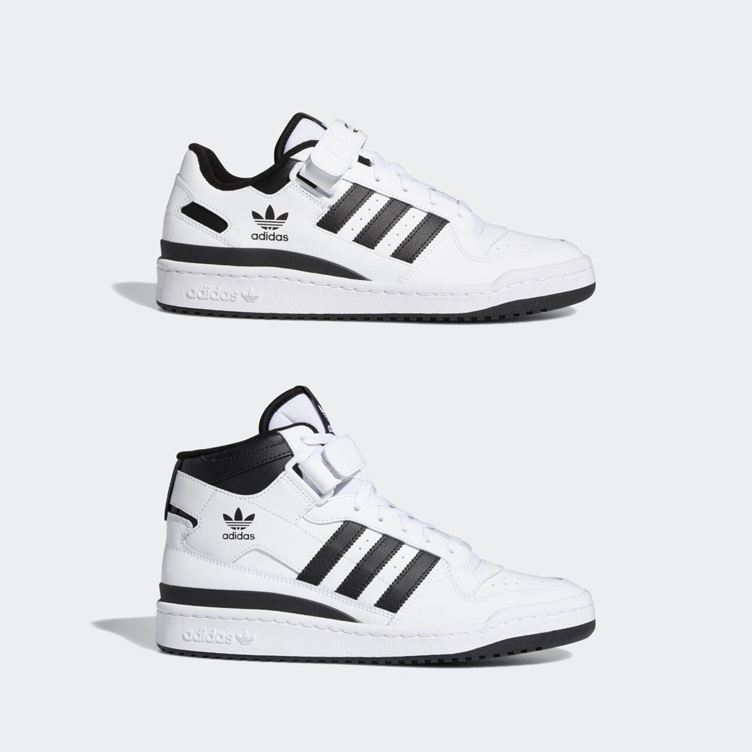 """6/10 発売!adidas Originals FORUM LOW/MID """"White/Black"""" (アディダス オリジナルス フォーラム ロー/ミッド """"ホワイト/コアブラック"""") [FY7757,FY7939]"""