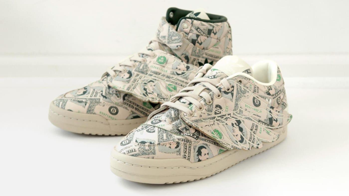 """8月/10月発売予定!アディダス オリジナルス バイ ジェレミー・スコット フォーラム ウィングス """"マネー"""" (adidas Originals by JEREMY SCOTT FORUM WINGS """"Money"""") [Q46154,GX6393]"""