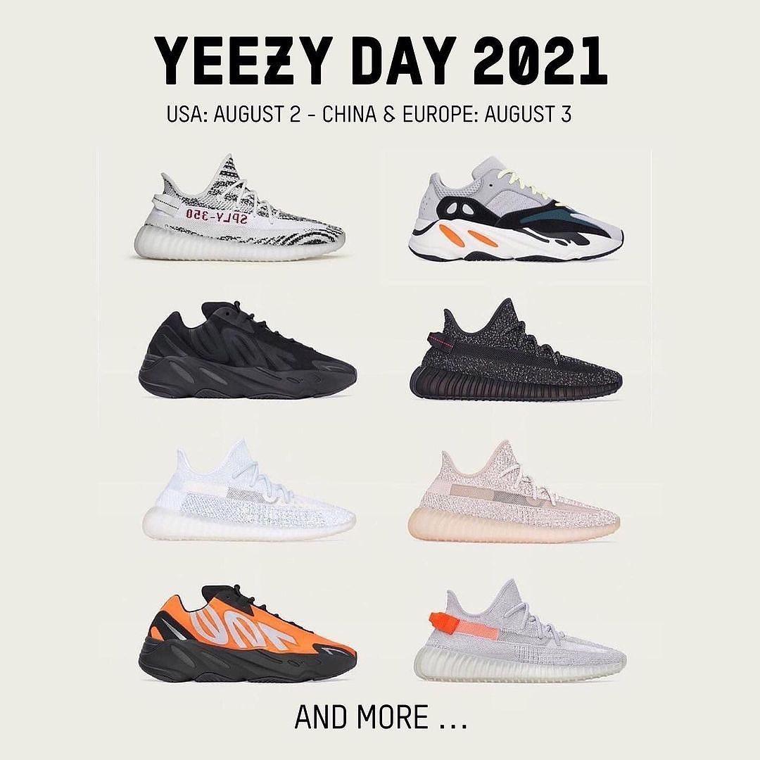 リストック多数の「YEEZY DAY 2021」が海外 8/2 展開予定 (イージー デイ)