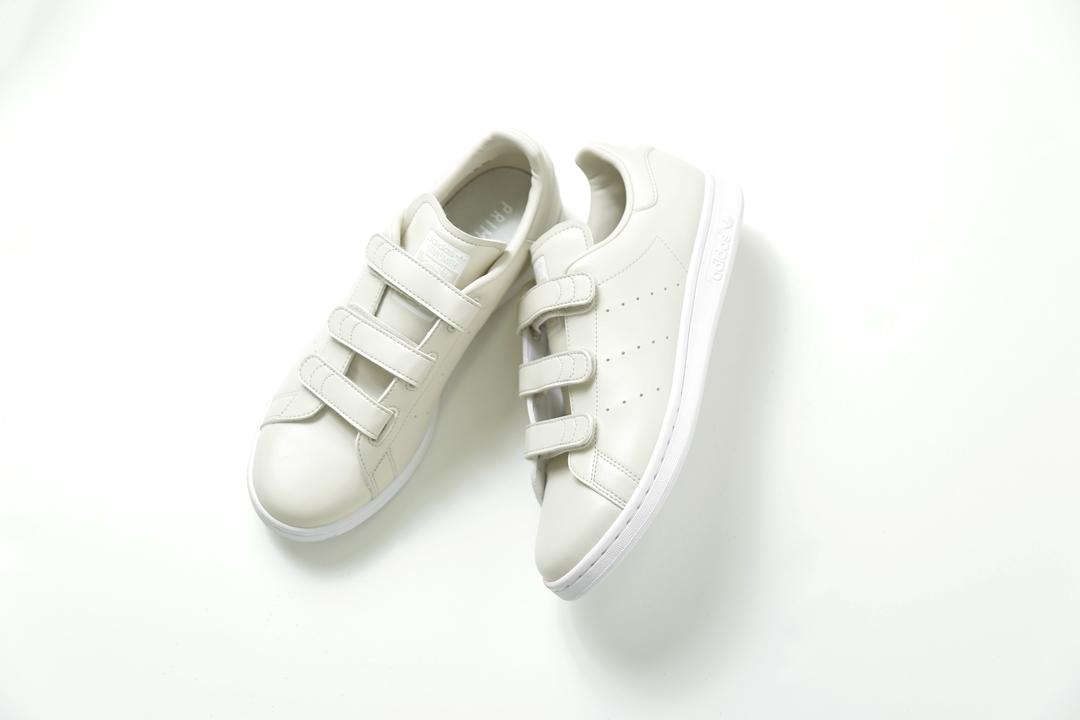 """【10/9 発売】ファスナーストラップを搭載した adidas Originals for emmi STAN SMITH CF """"Beige"""" (アディダス オリジナルス エミ スタンスミス """"ベージュ"""")"""
