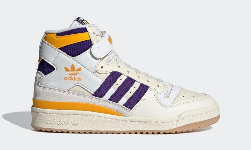 """【10/8 発売】adidas Originals FORUM 84 HIGH """"Lakers"""" (アディダス オリジナルス フォーラム 84 ハイ """"レイカーズ"""") [GX9054]"""