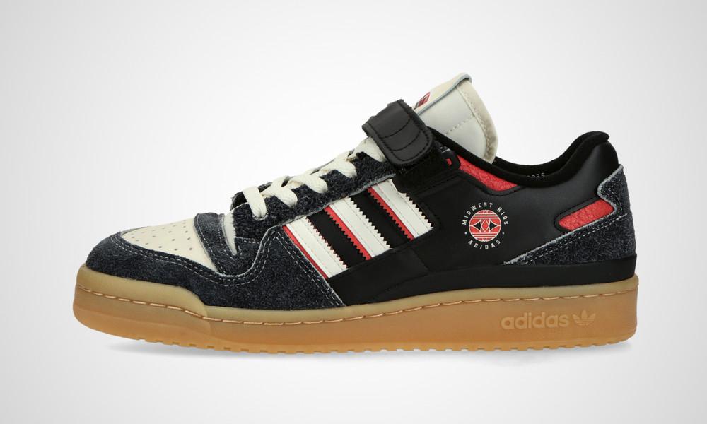 """11/5 発売!Midwest Kids × adidas Originals FORUM LOW """"Black"""" (ミッドウェスト キッズ アディダス オリジナルス フォーラム ロー """"ブラック"""") [GW0035]"""